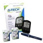 Kit Medidor de Glicose G-Tech Free Lite C/ 100 Tiras