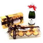 Kit Mini Espumante Moscatel com 20 Bombons Ferrero Rocher
