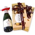 Kit Mini Espumante Moscatel com 2 Caixas de Bombons Ferrero Rocher 100gr