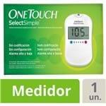 One Touch Select Simple Kit Monitor de Glicemia com 1 Aparelho + 1 Lancetador + 10 Tiras Teste