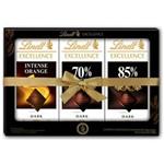 Pack com 3 Chocolate Suíço LINDT Excellence Sortidos Barra 100g Cada