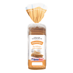 Pão de Forma Seven Boys Manteiga 500g