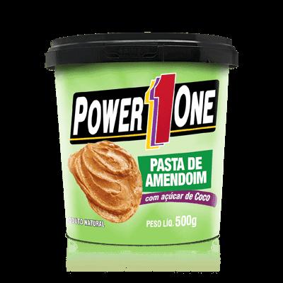 Ficha técnica e caractérísticas do produto Pasta de Amendoim C/ Açucar de Coco - Power One (500 G)