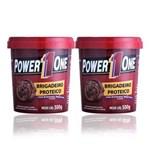 Ficha técnica e caractérísticas do produto 2 Pastas de Amendoim - Brigadeiro Proteico Power 1 One 500g