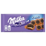 Tablete de Chocolate Oreo Sandwich 92g - Milka
