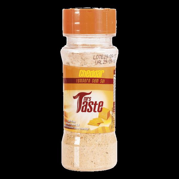 Ficha técnica e caractérísticas do produto Tempero Cheddar S/ Sal 55G Mrs Taste